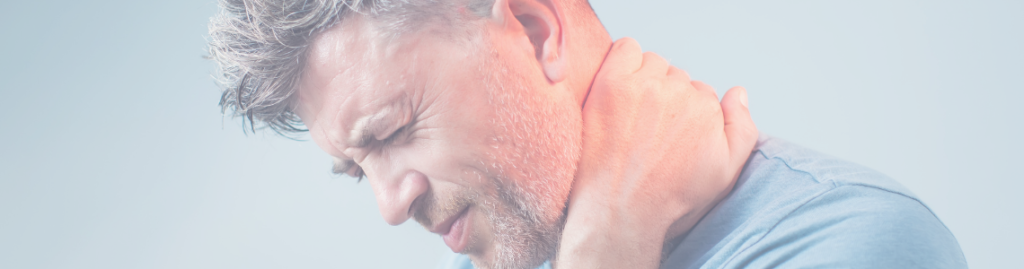 image of man with neck pain